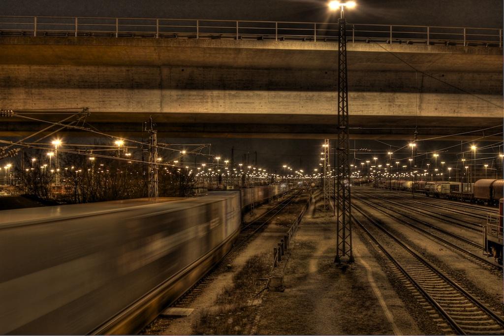 Verkehr im Mannheimer Güterbahnhof
