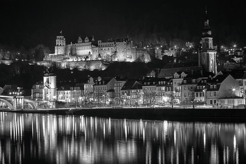 Heidelberg in Schwarz/Weiss