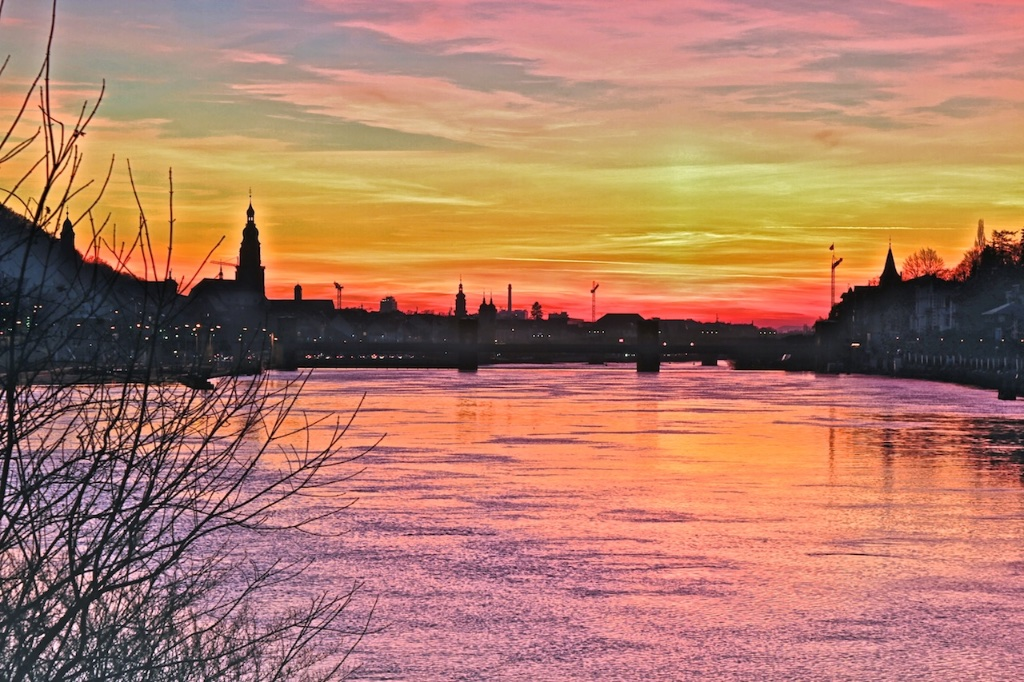 Abendstimmung über Heidelberg